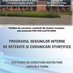 Sesiuni interne de referate si comunicari stiintifice SCDA 23.02.2017-30.03.2017