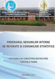 Programul sesiunii interne de referate si comunicari stiintifice – SCDA 2019